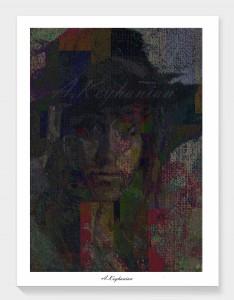 Abstrakte expressionistische Farbkomposition abstract expressionist painting composition Mischtechnik auf Leinwand