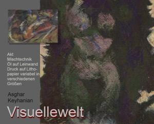Abstrakter expressionismus Farbkomposition abstract expressionist painting composition Druck auf Lithopapier, limitierte Auflage Mischtechnik by Keyhanian 55 x 70 cm