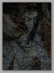 Weiblicher Akt – Mischtechnik Mixed Media Art; Druck auf Alu-Dibond Platte, 50x 80 cm by Asghar Keyhanian