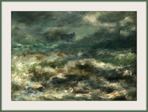 Das Meer Öl Auf Pappe Mischtechnik Druck auf Lithopapier, 70 x 50 cm by Asghar Keyhanian