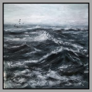 Das Meer Brandung Öl Auf Leinwand 60 cm x 60 cm Mischtechnik