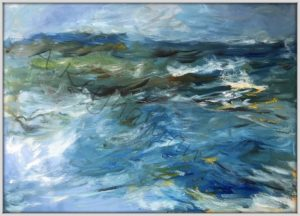 Das Meer Öl auf Leinwand Druck auf Lithopapier, by Keyhanian 120 x 80 cm