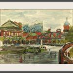 Elbphilharmonie Hamburg Ansichten Hamburg Hafen Mischtechnik 80 x 50 cm Druck auf Lithopapier, Variabel