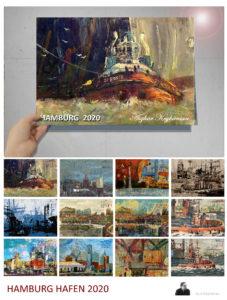 Hamburger Hafen Kalender 2020, limitierte Auflage DIN A2,. Sie können den Kalender unter meiner E-Mail-Adresse: a.asan@t-online.de bestellen.