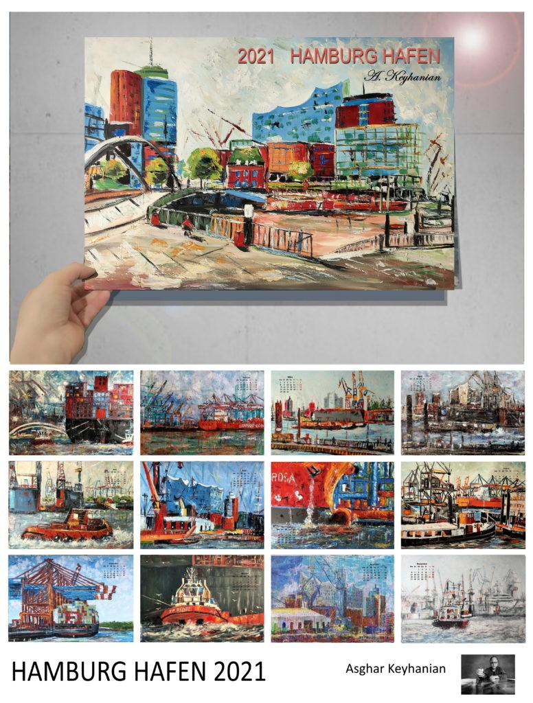 http://visuellewelt.de/ Hamburger Hafen Kalender 2021, limitierte Auflage DIN A2. Bei meiner nächsten Ausstellung Mitte Oktober in Hamburg werde ich meinen Hamburger Hafen Kalender präsentieren in limitierter Auflage. Ich freue mich auf Ihre Bestellungen. A.keyhanian@t-online.de