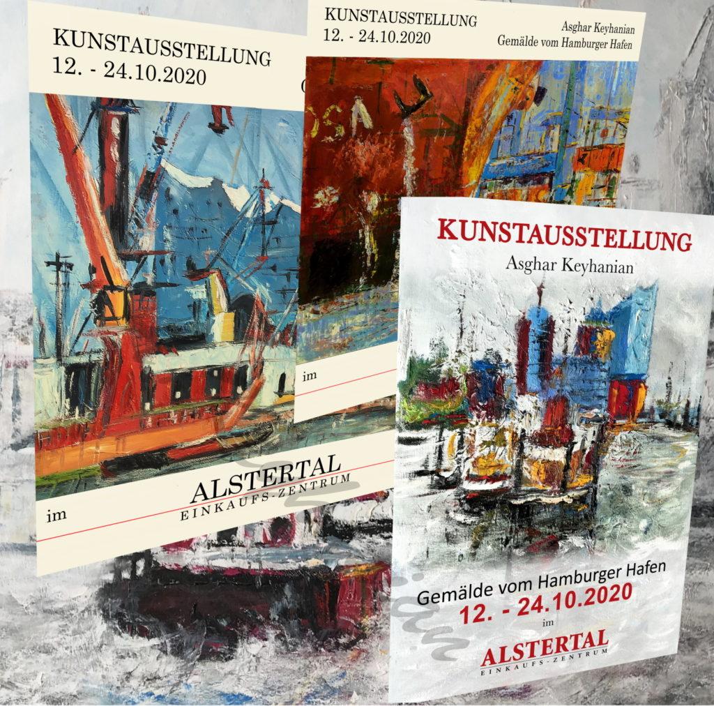 Kunstausstellung Hamburger Hafenansichten Asghar Keyhanian